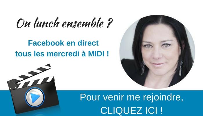 Direct sur Facebook avec Céline Legault
