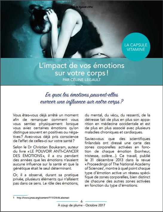 L'impact de vos émotions sur votre corps