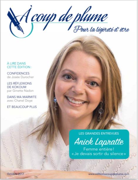 Magazine À coup de plume - octobre 2017