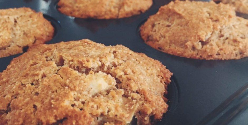 Muffins aux pommes, tout ce qu'il y a de plus santé!